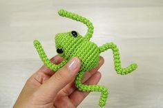 Kleiner Häkelfrosch