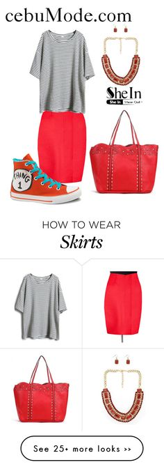 """""""Pencil Skirt 13"""" by cebumode on Polyvore featuring Converse"""