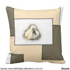 kussen: swan chick baby collection sierkussen