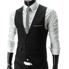 MOUTEN Men Slim Formal Three Button Camouflage Dress Suit Vest Waistcoat