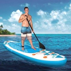 Banzai Inflatable Sup Stand Up Paddle Panel W/ Paddle Backpack Load up) Water Shoes For Kids, Sup Stand Up Paddle, Kayak Paddle, Inflatable Sup, Standup Paddle Board, Pump It Up, Sup Surf, Learn To Surf