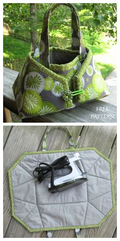 Bag Sewing Pattern, Bag Pattern Free, Tote Pattern, Sewing Patterns Free, Free Sewing, Sewing Tutorials, Quilted Purse Patterns, Small Sewing Projects, Sewing Crafts