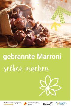 #Marroni #selbermachen# Rezept Heisse Marroni sind im Herbst ein leckerer Snack für zwischendurch. Sie wärmen die kalten Hände und füllen den leeren Magen. Besonders Kinder lieben Kastanien aller Art. Egal ob zum Essen oder Basteln. Wirf einen Blick auf unseren Tipp, egal welche Kastanien du mit deinen Kindern gefunden hast. Delicious Snacks, Healthy Food, Make Your Own, Fall, Simple, Tips, Recipes