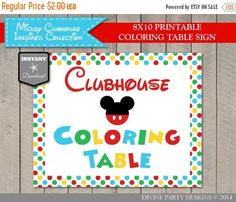 SALE INSTANT DOWNLOAD Mickey Inspired 8x10 by DivinePartyDesign