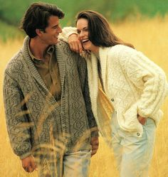 His And Hers Cardigans With Shawl Collar, Knitting Pattern. PDF Instant Download.
