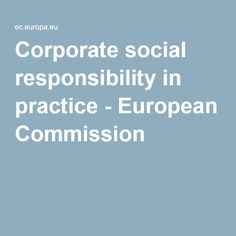 Corporate social responsibility in practice - European Commission