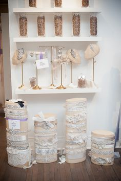 White Montreal Accessories Wall Display