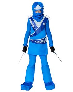 Blue Ninja Fighter Child Costume exclusively at Spirit Halloween - Dominate Halloween when you use your fighting skills and stealth while wearing the Blue ...  sc 1 st  Pinterest & Blue Ninja Avenger Costume | Wholesale Ninja Costumes for Boys ...