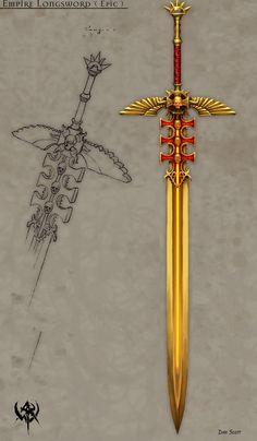 Warhammer Оружие оригинальные картины (два)