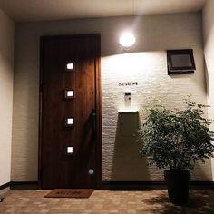 表札/玄関マット/玄関ドア/ポスト/照明/カフェ風…などのインテリア実例 - 2017-09-30 22:44:07 | RoomClip(ルームクリップ)