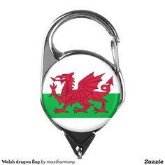 Welsh dragon flag badge holder
