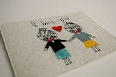 Textile-Collage-girls by cara carmina,   via Flickr