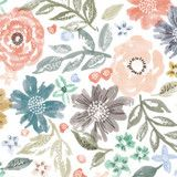 English Garden Fabric by Alethea and Ruth   Minted