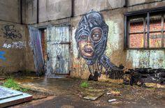 Graffiti Aalst (B) March 2008 urban urbex kunst art streetart in abandoned factory in Belgium Photo by: Jascha Hoste