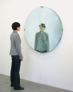 Concentric mirror • Artwork • Studio Olafur Eliasson  having a tiny mirror in the forgotten aspect so viewer can see themselves