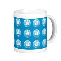 Sailboats Mug; Abigail Davidson Art