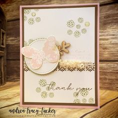 Background Bits, Butterfly Basics, Layered Circle Dies, Stamp Ink Paper Challenges, Stitched Shapes Framelit Dies, Thank You Cards