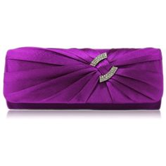 Elaine Satin and Crystal Clutch Handbag - Silver Also available in Ivory, Blue, Black and Purple http://www.happyweddingday.co.uk/collections/bags/products/elaine-satin-and-crystal-clutch-handbag