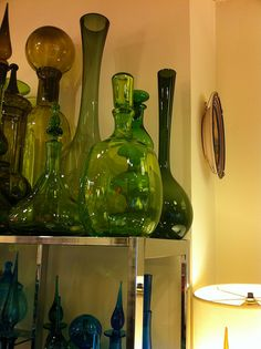 Green vintage glass from The End of History