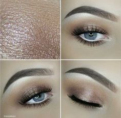Soft Everyday Makeup Look for Blue Eyes