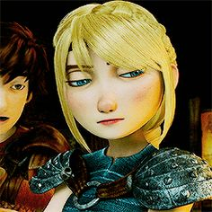 "HAHA her face! When I watched that part I was like ""Ooh dang Hiccup you in for it now!"" XD < I really loved this part. This was a simple thing yet it really showed a lot about the dynamic of their relationship. Hiccup and Astrid's reactions to each other are so natural and perfect. :)"