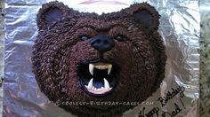 Native American Bear Clan Birthday Cake... Coolest Birthday Cake Ideas