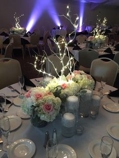 lovely day, lovely couple, lovely venue (Lake Natoma Inn). i thoroughly enjoyed doing these flowers. soft blush & white and twinkle lights