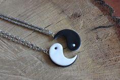 Collier le ying et le yong  Idéal pour collier d'amitié  Abonnez vous😘