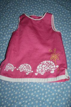 lilly pulitzer pink TURTLE dress 18-24 months EUC