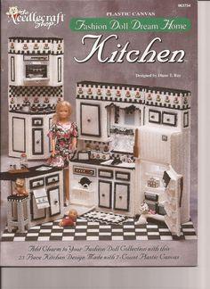 Plastic Canvas - Fashion Doll dream Home Kitchen- Pattern Book - PDF Form