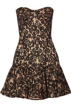 Balmain Ruffled lace mini dress | THE OUTNET