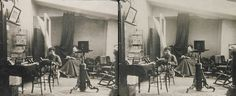 A stereocard photograph of a unknown 19th century photographer's studio.