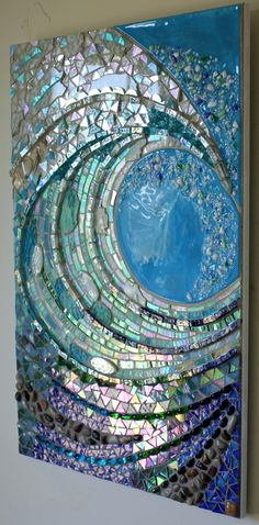 stained glass for mosaics big wave studio giant wave glass mosaic this looks like work by or shoemaker if you know the artist would you let me know so i can credit this stained glass