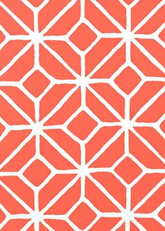 Trina Turk Fabric by the Yard Trellis Print Watermelon SCHF174232