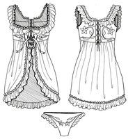 Rococo Babydoll Lingerie by MadamWitch
