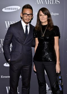 """Hidetoshi Nakata at the WSJ. Magazine's """"Innovator Of The Year"""" Awards 2014 at the Museum of Modern Art. Grooming by Kumi Craig."""
