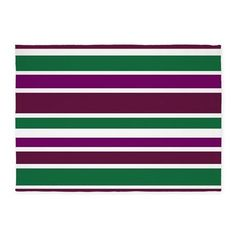 Decorative 5x7 area Rug Purple green striped pattern #cafepress #decor #rugs