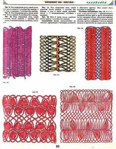 Hairpin lace. molti schemi giapponesi e russi fdi forcella.