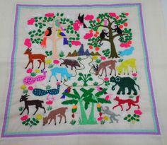 Vintage mid 1980 Hmong Embroidery on Cloth. by GUTTERSNIPES, $195.00