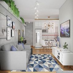 10 Dreamy ways to make your studio apartment look bigger - Daily Dream Decor House Design, Home Living Room, Small Living Room, Home Decor, House Interior, Apartment Decor, Interior Design, Living Decor, Living Room Designs
