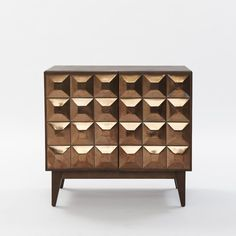 All i want for christmas is this Lubna Chowdhary Tiled Dining Storage West elm Hand Painted Furniture, Furniture Decor, Modern Furniture, Furniture Design, Furniture Storage, Geometric Tiles, Cabinet Design, Minimalist Art, Storage Shelves