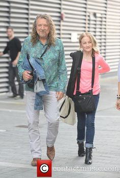 Robert Plant~ Leaving the BBC after his interview...