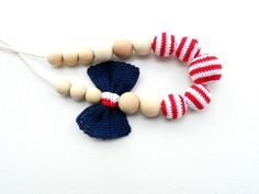 $25.00 - Crochet nursing necklace  - made in the US!