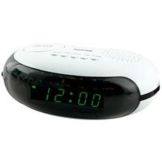 Lloytron J412WH Bolero AM/FM Radio Alarm Clock (White)
