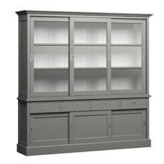 Buffetkast Lisa 220cm grijs [NL220G] China Cabinet, Home And Living, Lisa, Storage, Modern, House, Xl, Groot, Furniture
