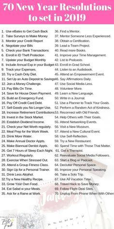 48f7f0bae5e057 a list of things to do in a year New Years Resolution List, Money Tips