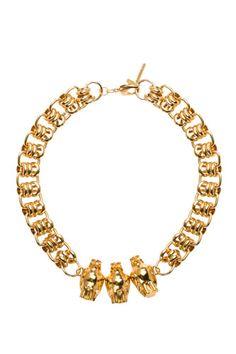 Falcon-Necklace-Gold