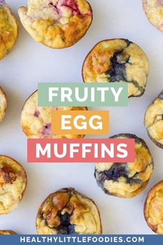 These fruity egg muffins are a great baby-led weaning breakfast or snack. Made with only three ingredients (egg, banana and berries) they are a healthy and tasty snack. Not just for babies, toddlers, kids and adults can enjoy this healthy snack. Gluten free and dairy free Healthy Meals For Kids, Kids Meals, Healthy Snacks, Easy Meals, Healthy Recipes, Dairy Free Recipes For Kids, Baby Food Recipes, Baby Led Weaning Breakfast, Egg Muffins