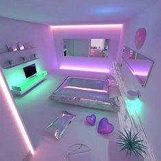 Bedroom ideas for teen girls purple couch 32 Ideas - Neon Bedroom, Girls Bedroom, Bedroom Decor, Bedroom Couch, Bedroom Ideas, Dream Rooms, Dream Bedroom, My New Room, My Room