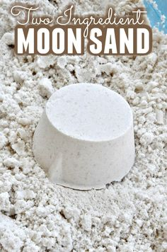 Are you looking for a fun sensory activity to keep your kids busy? This DIY moon sand uses only 2 ingredients for hours of fun!